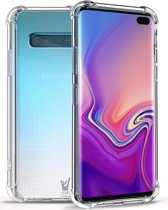 Transparant Hoesje Shockproof voor Samsung Galaxy S10 Plus | Case Hoesje Soft TPU Gel Siliconen van iCall
