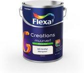 Flexa Creations Muurverf - Extra Mat - Mengkleuren Collectie - Wit Grafiet  - 5 liter