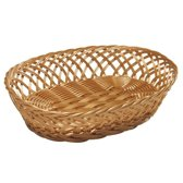 Ovale brood/stokbrood mandje 31 x 23,5 x 8,5 cm - Keuken artikelen manden - Huis decoratie