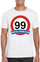 99 jaar and still looking good t-shirt wit - heren - verjaardag shirts S