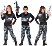 Politie / SWATcarnaval verkleedset voor kinderen -  carnavalskleding - voordelig geprijsd 116 (5-6 jaar)