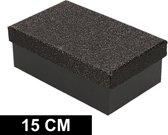 Zwart glitter cadeaudoosje 15 cm rechthoekig - kadodoosjes / cadeauverpakking