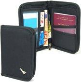 Paspoorthouder met Ritssluiting - Reisportemonnee 8 vakjes - Mapje voor Paspoort, pasjes, vliegtickets en briefgeld