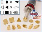 Pebaro Brandstempelset, 12-delig, verschillende vormen