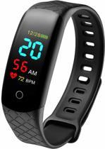 Optible | Stappenteller | Activity Tracker | Android & iOS | Hartslagmeter | Bloeddrukmeter | Saturatiemeter | Calorieteller | Waterdicht | Afstandsmeting | Zwart