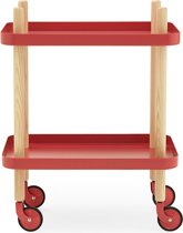 Normann Copenhagen Block trolley rood 50x35