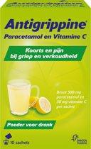 Antigrippine Poeder voor drank - Bij griep en verkoudheid - 10 sachets