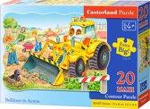 Bulldozer in action - Legpuzzel - 260 Stukjes