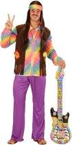 Veelkleurig pastel hippie kostuum voor mannen - Verkleedkleding - Maat XL