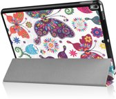 Shop4 - iPad Air (2019) Hoes - Smart Book Case Vlinders en Bloemen