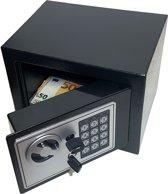 Elektronische stalen safe Lock kluis cijferslot muur of vloer montage 17 x 23 x 17cm incl batterijen
