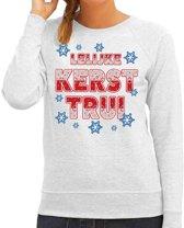 Foute kersttrui / sweater Lelijke kerst trui grijs voor dames - kerstkleding / christmas outfit XL (42)