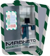 2x Tarifold tas met magnetische rug, A4 groen/wit, pak a 2 stuks