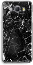 Samsung Galaxy J5 (2016) Transparant Hoesje (Soft) - Zwart Marmer 2