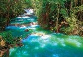 Fotobehang Waterfalls Trees Forest Nature   M - 104cm x 70.5cm   130g/m2 Vlies
