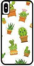iPhone Xs Max Hardcase hoesje Happy Cactus