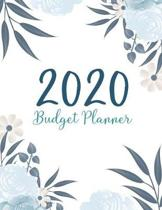 2020 Budgeting Planner: Flowers Watercolor Cover - 2020 Daily Weekly Expense Tracker Workbook - Personal Finance Budget Planner - Monthly Bill