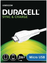 Duracell MicroUSB Laadkabel (universeel) - 2M Wit