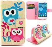 Couple owls wallet hoesje Alcatel One Touch C5