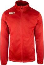 Robey Premier Trainingsjack - Voetbaljas - Red - Maat XL