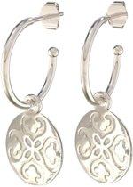 Lora di Lora Oorbellen 22 Arabesque. Unieke oorbellen met bedeltjes 925 Sterling Zilver 1.5 cm