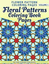 Floral Patterns Coloring Book Pages - Flower Pattern Coloring Pages - Volume 1