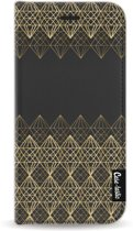 Casetastic Wallet Case Black Apple iPhone 6 / 6S - Golden Diamonds