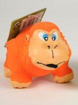 Hondenspeelgoed - Hondenspeeltje - Gorilla - Oranje - Geluid - Latex - 12.5cm