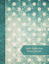 Daily Reflections Dated Journal: Vintage Dots - Page to a Day 365 Daily Quotes 11''x 8.5'' Paperback Diary Planner