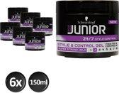 Junior Power Styling Control Gel L2 150 ml - 6 stuks - Voordeelverpakking
