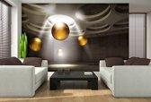 Fotobehang Papier Design, 3D | Goud | 368x254cm