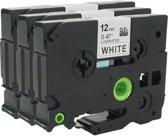 Labeltape voor Brother TZe-231- Zwart op wit - 12mm x 8m - Brother P-Touch 1000