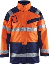 Blåkläder 4426-1997 Parka (Uitneembare voering) High Vis Oranje/Marineblauw maat XXXL