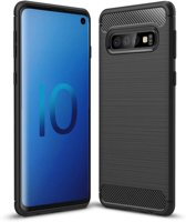 Samsung Galaxy S10 hoesje - Rugged TPU Case - zwart