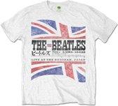 The Beatles - Budokan Set List heren unisex T-shirt wit - XXL