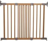 Babydan Flexi Gate - Schroefhek 69-106,5 Cm (Beukenhout Met Zilver Kleurig Plastic Beslag)