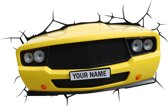 3DlightFX Muscle Car - Wandlamp - LED - Geel