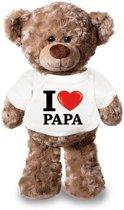 Knuffelbeer I love papa 24 cm - Vaderdag cadeau