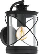 EGLO Vintage Hilburn - Buitenverlichting - Wandlamp - 1 Lichts - Zwart