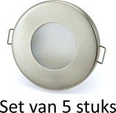 Dimbare Phillips 5W GU10 inbouwspot Zilver mat rond | Extra warm wit | Set van 5 stuks