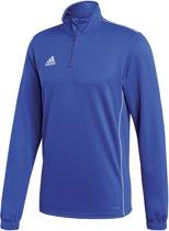 adidas Core 18 Training Top  Sportshirt performance - Maat M  - Mannen - blauw