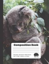 Cute Koala Sleeping - Composition Book