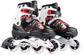 Laubr Smooth Skates - maat 39-42 - ABEC 9 - rood/wit/zwart - alu frame