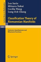 Classification Theory of Riemannian Manifolds