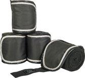 Bandages -HKM Premium- zwart/zwart 300 cm
