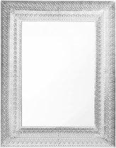 Beliani PORDIC - Wandspiegel - Zilver - Glas