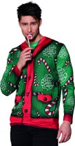 Fotorealistische kersttrui Candy cane (M)