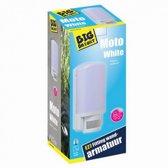 Big Bright Moto White Wandarmatuur + Bewegingssensor E27