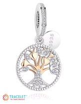 Zilveren bedel  | Levensboom zilver | Bedels Charms Beads | 925 sterling silver | net zo waardevol als pandora maar dan goedkoop | direct snel leverbaar | Tracelet
