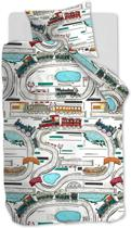 Beddinghouse Kids Railways Dekbedovertrek - Eenpersoons - 140x200/220 - Multi